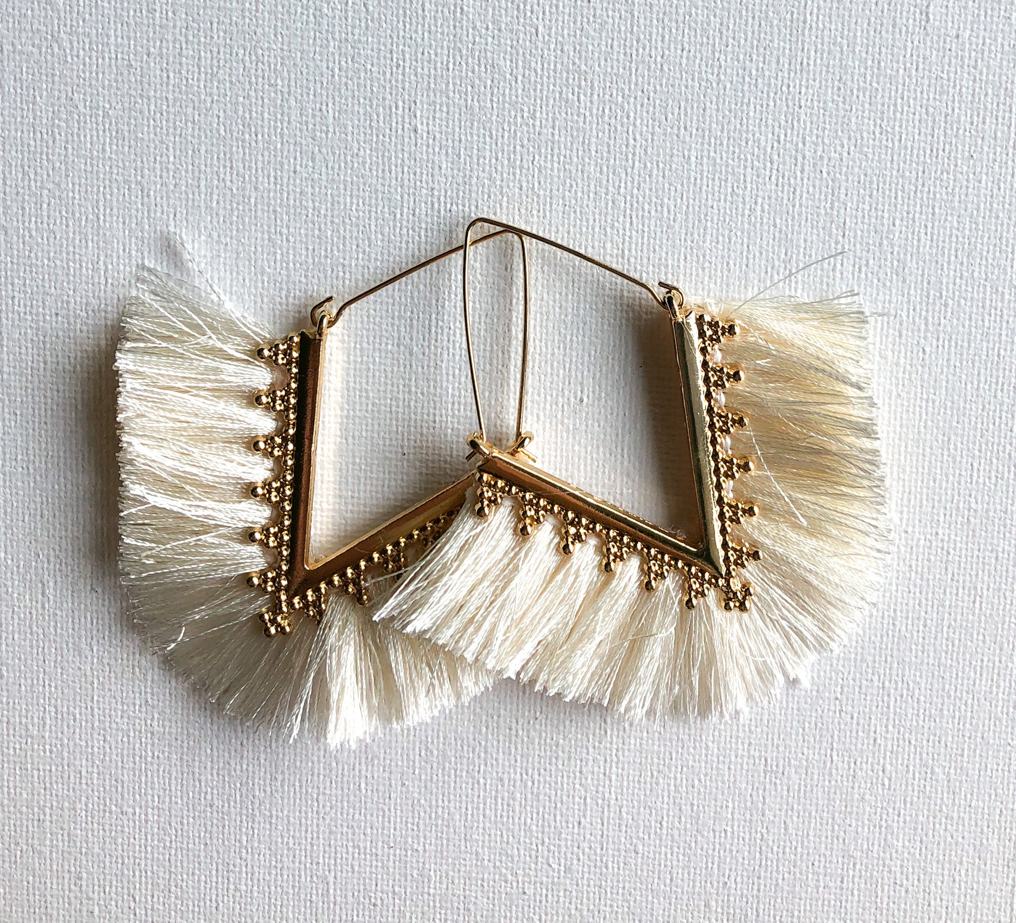 Pankhi Earrings - White