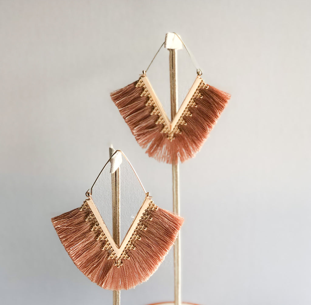 Pankhi Earrings - Champagne