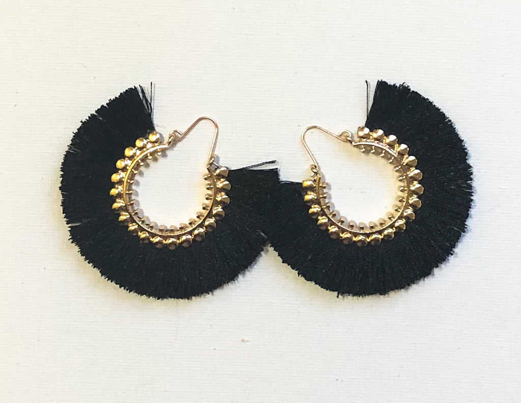 Dhara Earrings (Design 1) - Black