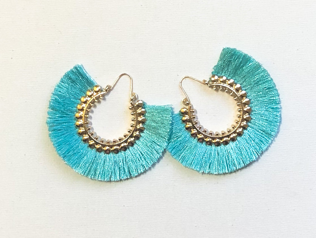 Dhara Earrings (Design 1) - Cyan