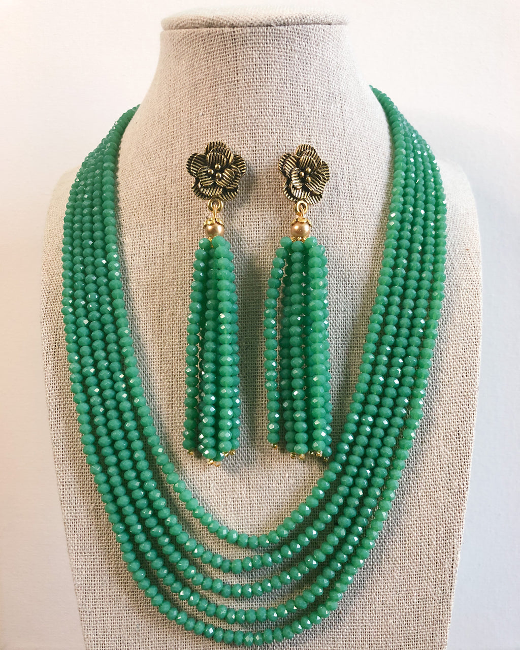 Tejal Necklace Set - Green