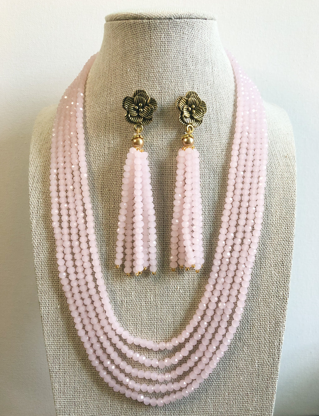 Tejal Necklace Set - Light Pink