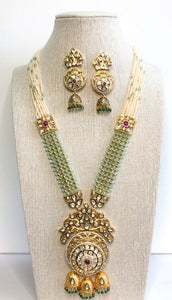 Rashmi Necklace Set - Design 2 (Light Green)