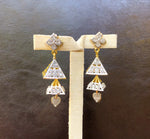 Alfa Earrings - Triangle Jhumkis