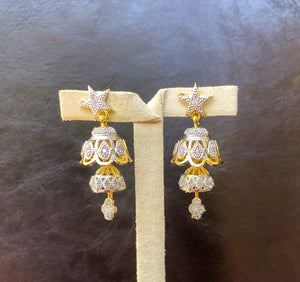 Alfa Earrings - Bell Jhumkis