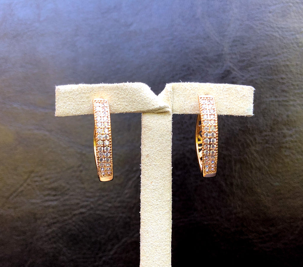 Alfa Earrings - Gold Hoop