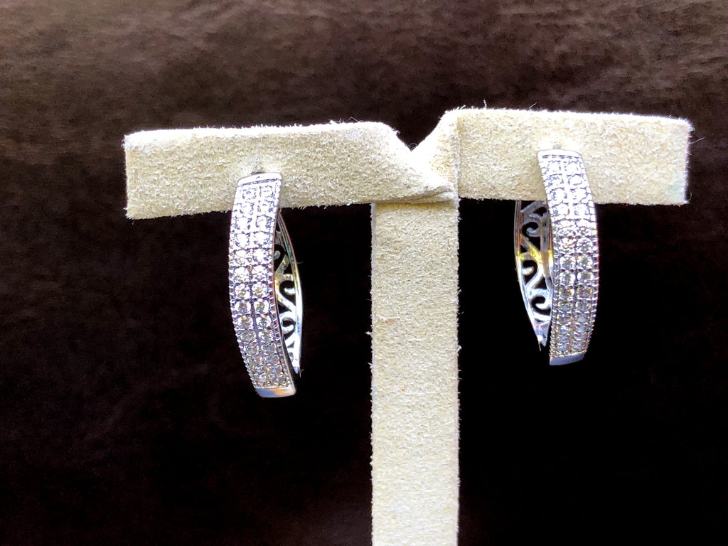 Alfa Earrings - Silver Hoop
