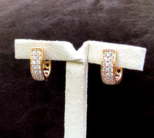 Alfa Earrings - Small Gold Hoops