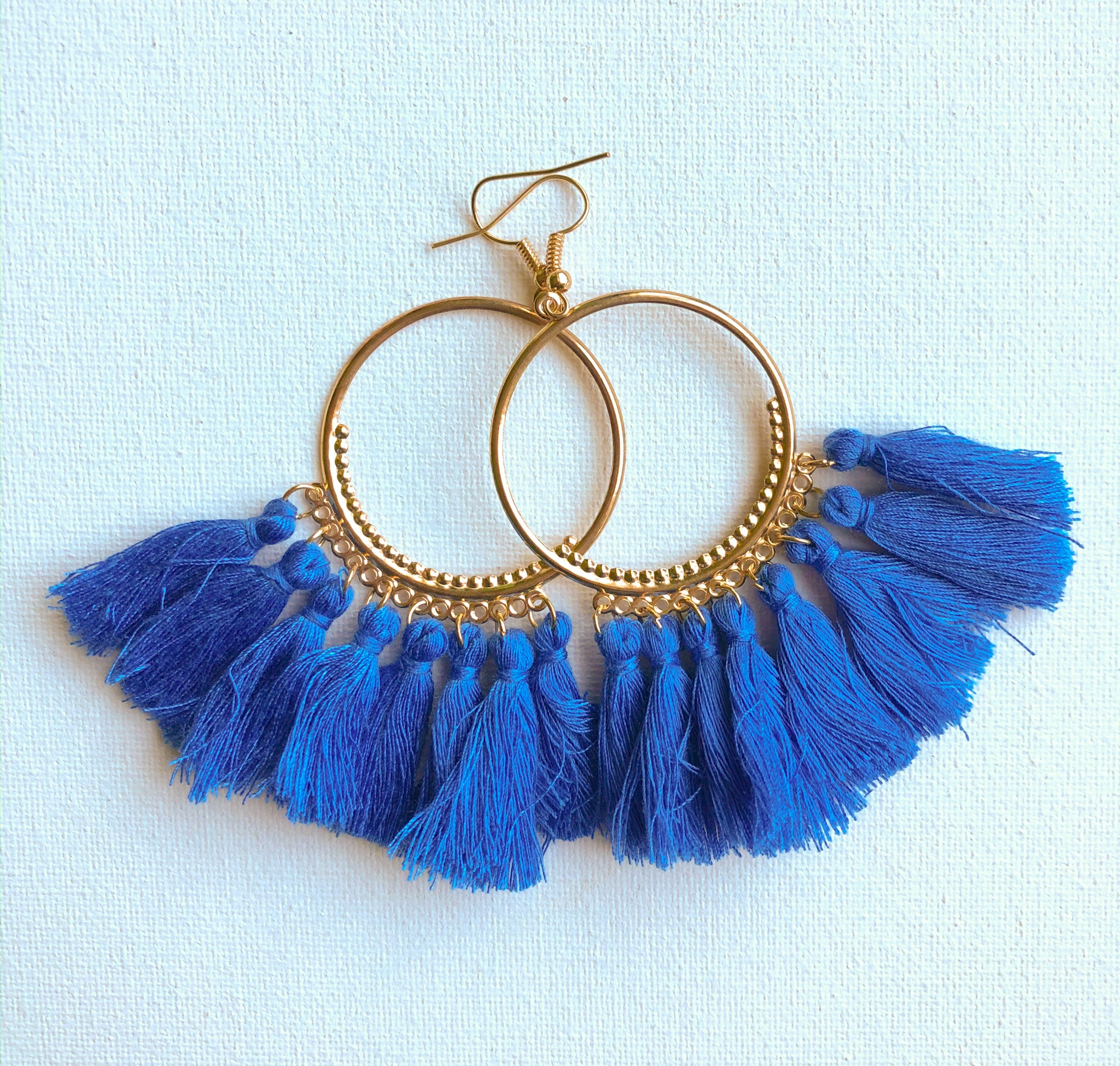 Seema Earrings - Design 1 (Cobalt)