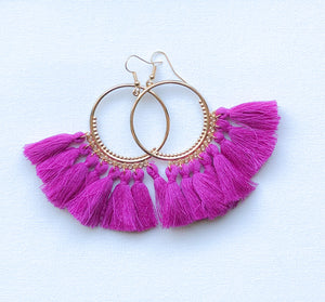 Seema Earrings - Design 1 (Fuschia)