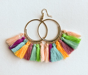 Seema Earrings - Design 1 (Pastel Multi-Color)