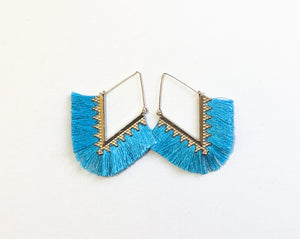 Pankhi Earrings - Bright Blue