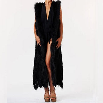 Fur Long Black