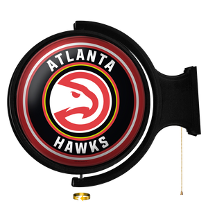 Atlanta Hawks: Original Round Rotating Lighted Wall Sign