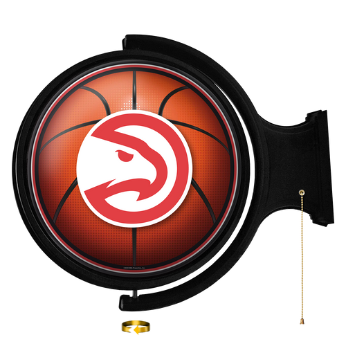 Atlanta Hawks: Basketball - Original Round Rotating Lighted Wall Sign - The Fan-Brand