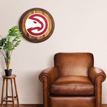 "Load image into Gallery viewer, Atlanta Hawks: ""Faux"" Barrel Top Sign - The Fan-Brand"