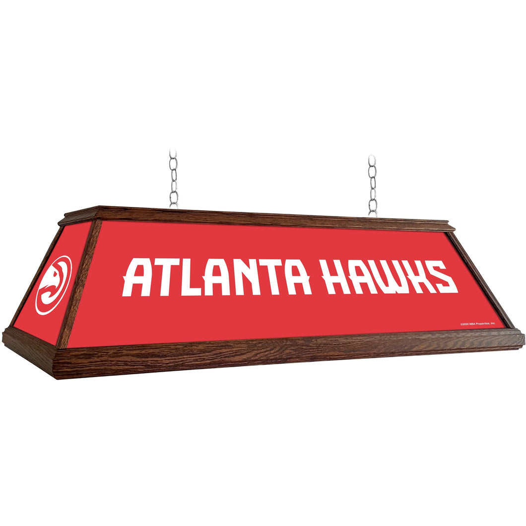 Atlanta Hawks: Premium Wood Pool Table Light