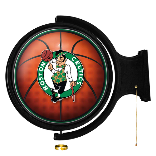 Boston Celtics: Basketball - Original Round Rotating Lighted Wall Sign - The Fan-Brand