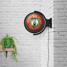 Load image into Gallery viewer, Boston Celtics: Basketball - Original Round Rotating Lighted Wall Sign - The Fan-Brand