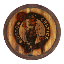 "Load image into Gallery viewer, Boston Celtics: Weathered ""Faux"" Barrel Top Sign"