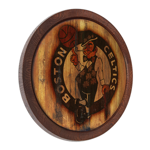 "Boston Celtics: Weathered ""Faux"" Barrel Top Sign"