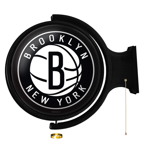 Brooklyn Nets: Original Round Rotating Lighted Wall Sign