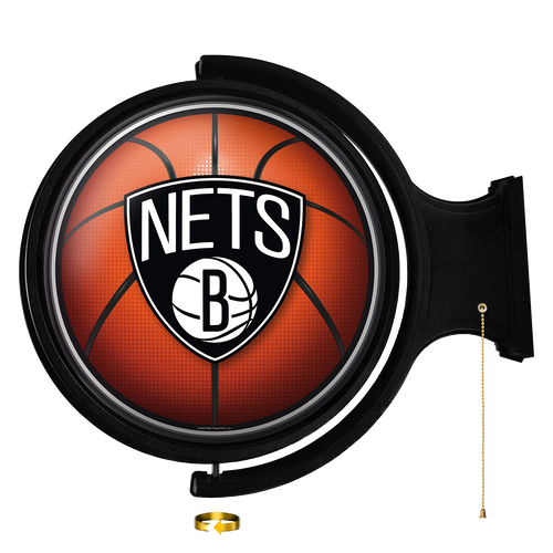Brooklyn Nets: Basketball - Original Round Rotating Lighted Wall Sign
