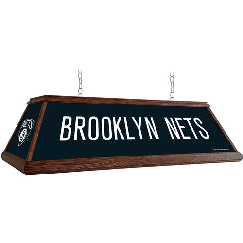 Brooklyn Nets: Premium Wood Pool Table Light