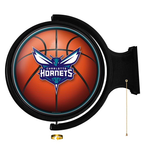 Charlotte Nornets: Basketball - Original Round Rotating Lighted Wall Sign