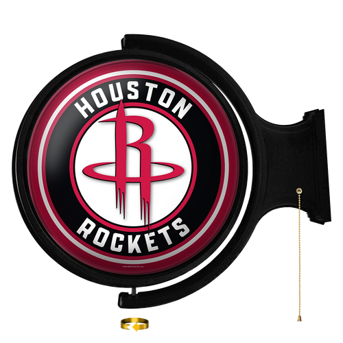 Houston Rockets: Original Round Rotating Lighted Wall Sign