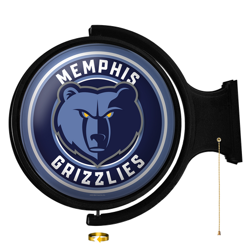 Memphis Grizzlies: Original Round Rotating Lighted Wall Sign - The Fan-Brand