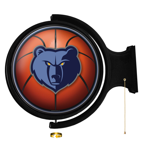 Memphis Grizzlies: Basketball - Original Round Rotating Lighted Wall Sign - The Fan-Brand