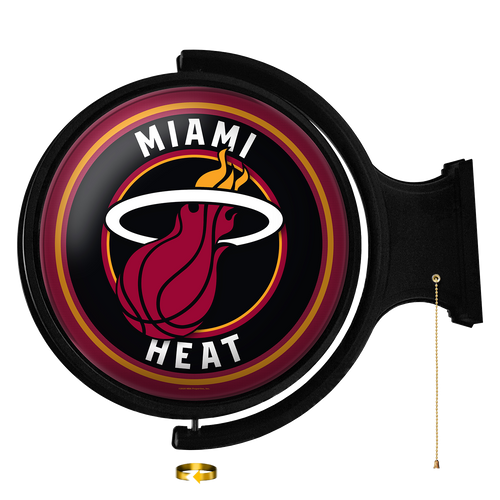 Miami Heat: Original Round Rotating Lighted Wall Sign