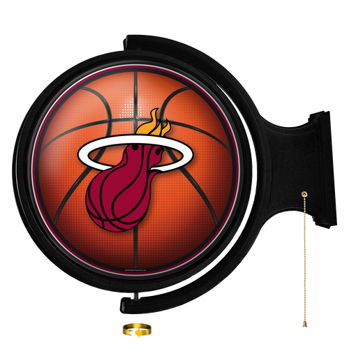 Miami Heat: Basketball - Original Round Rotating Lighted Wall Sign