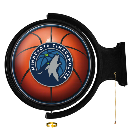 Minnesota Timberwolves: Basketball - Original Round Rotating Lighted Wall Sign - The Fan-Brand
