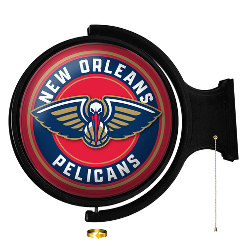 New Orleans Pelicans: Original Round Rotating Lighted Wall Sign - The Fan-Brand