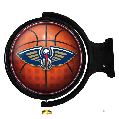 New Orleans Pelicans: Basketball - Original Round Rotating Lighted Wall Sign - The Fan-Brand