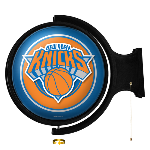 New York Knicks: Original Round Rotating Lighted Wall Sign