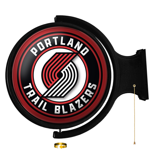 Portland Trail Blazers: Original Round Rotating Lighted Wall Sign