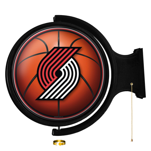 Portland Trail Blazers: Basketball - Original Round Rotating Lighted Wall Sign