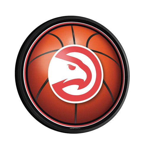 Atlanta Hawks: Basketball - Round Slimline Lighted Wall Sign - The Fan-Brand