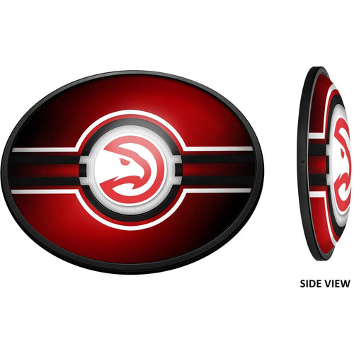 Atlanta Hawks: Oval Slimline Lighted Wall Sign - The Fan-Brand