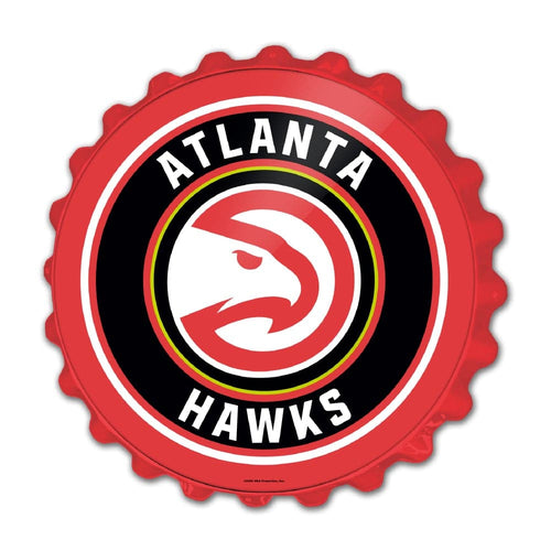 Atlanta Hawks: Bottle Cap Wall Sign - The Fan-Brand