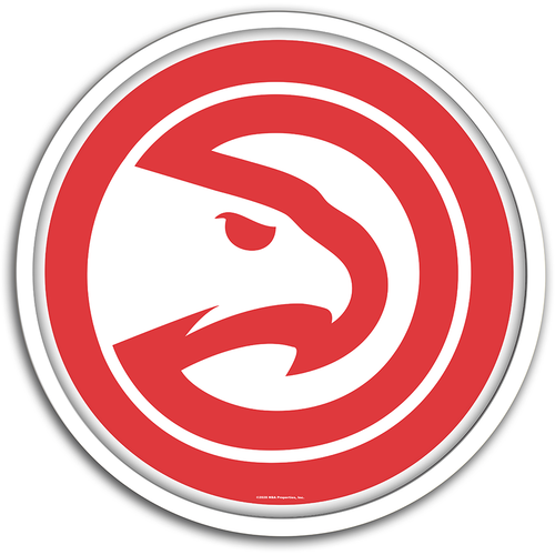 Atlanta Hawks: Modern Disc Wall Sign - The Fan-Brand