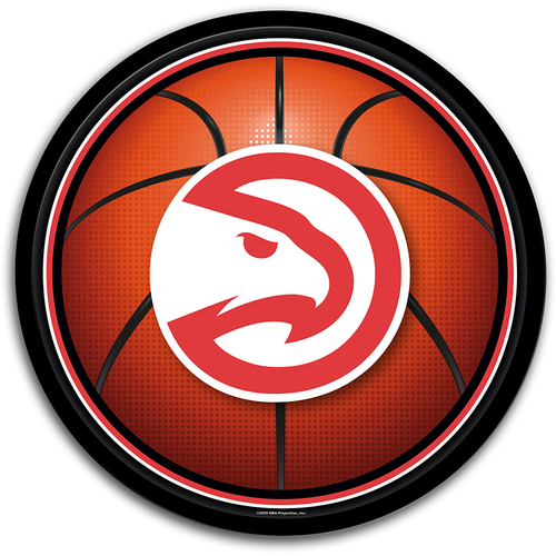 Atlanta Hawks: Basketball - Modern Disc Wall Sign - The Fan-Brand