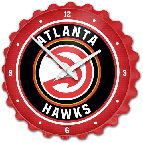 Atlanta Hawks: Bottle Cap Wall Clock - The Fan-Brand