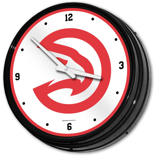 Atlanta Hawks: Retro Lighted Wall Clock - The Fan-Brand