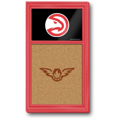 Atlanta Hawks: Dual Logo - Cork Note Board - The Fan-Brand