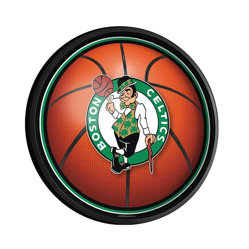 Boston Celtics: Basketball - Round Slimline Lighted Wall Sign - The Fan-Brand