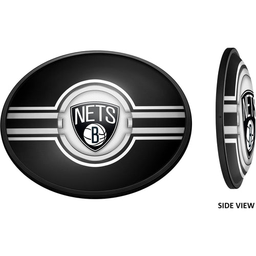 Brooklyn Nets: Oval Slimline Lighted Wall Sign